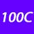100 C