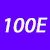 100 E