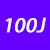 100 J