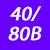 40/80 B