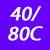 40/80 C