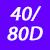 40/80 D