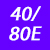 40/80 E