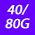 40/80 G