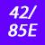 42/85 E