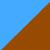 Голубой + коричневый