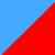 Голубой + красный