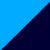 Темно-синий + голубой
