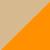 Экрю + оранжевый