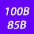 100 B(85 B)