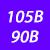 105 B(90 B)