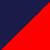 Темно-синий + красный